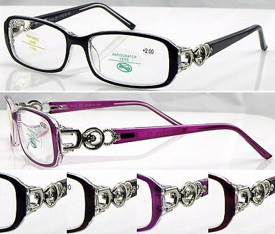 £7.99 • Buy L291 Superb Quality Womens Optical  Reading Glasses/Diamante Metal Detailed Arms