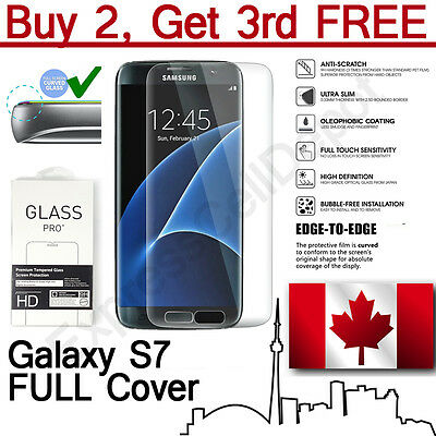 $ CDN6.59 • Buy Premium Full Cover Tempered Glass Screen Protector For Samsung Galaxy S7