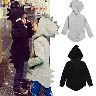 Child Kids Baby Dinosaur Style Hooded Coat Boys Girl Outwear Jacket Tops Clothes • 8.11£