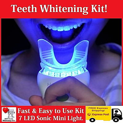 AU42.99 • Buy Teeth Whitening Kit - 7 LED Sonic Light - 15 Treatments - Hi Pearly White Smile