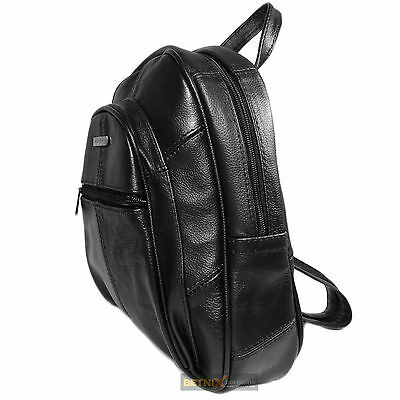 Ladies Women Leather Small Soft Lorenz Backpack Rucksack Shoulder Bag Style • 16.99£