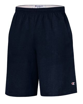 $11.99 • Buy Champion 9  Inseam Cotton Jersey Shorts With Pockets - 8180
