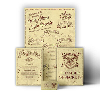 £42.99 • Buy Harry Potter Marauder's Map Hogwarts Wedding Table Seating Plan Chart Place Card