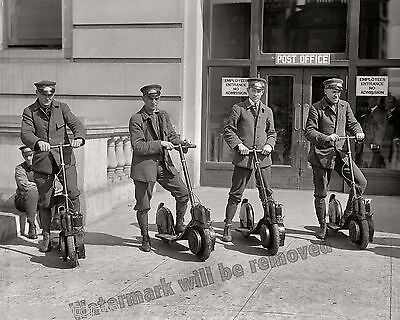 $7.95 • Buy Photograph Of The Post Office Mail Delivery Scooters Year 1916c   8x10