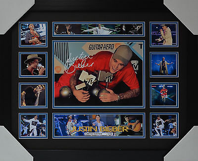 AU99 • Buy Justin Bieber Signed Framed Limited Edition Memorabilia V2