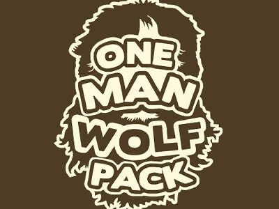 One Man Wolf Pack T-shirt From The Hangover - All Sizes • 10£