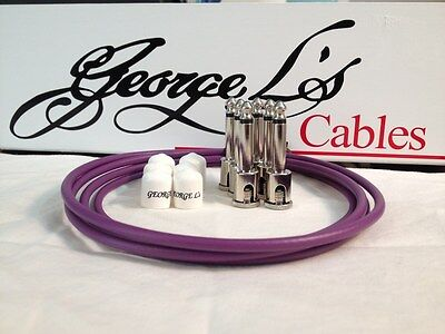 $ CDN68.21 • Buy George L's 155 Guitar Pedal Cable Kit .155 Purple / White / Nickel - 6/6/6
