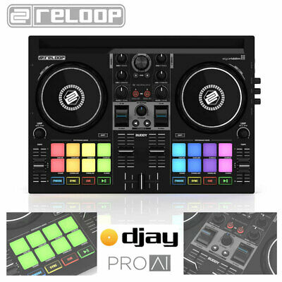 £199 • Buy Reloop Buddy DJ Controller Compact 2-Channel USB IPad IPhone IOS Android Tablet