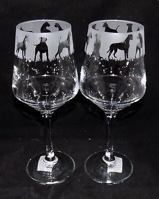 New Etched  BOXER DOG  Wine Glass(es) - Free Gift Box - Large 390mls Wine Glass • 11.99£