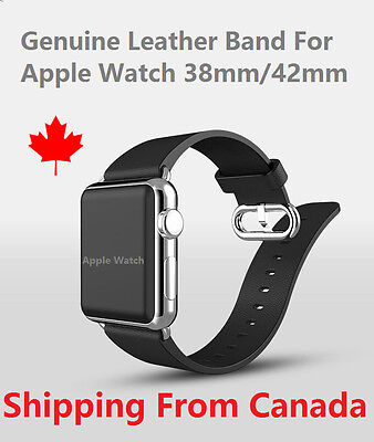$ CDN19.89 • Buy New Apple Watch Genium Leather Band IWatch Classic Bracelet Cuir 38mm 42mm
