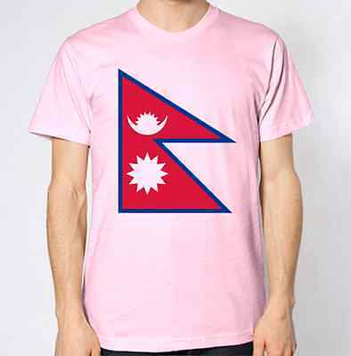 Nepal New T-Shirt Map Flag Top Country Gift Present City Holiday Tee • 8.99£