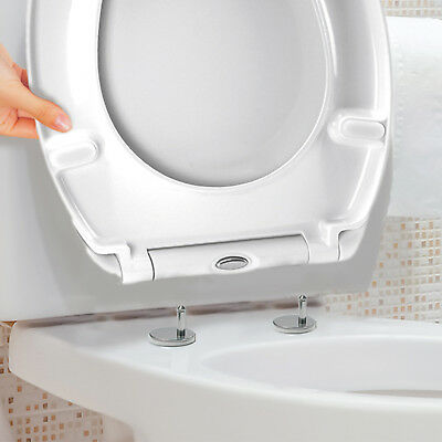 £17.95 • Buy Luxury White Quick Release Soft Close Toilet Seat Top Fix Easy Clean Bathroom WC