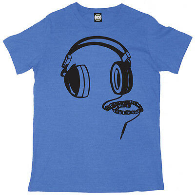 Headphones Mens Dj Music Club Printed T-shirt • 14.95£