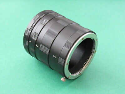 Macro Extension Tube Ring Set Four Thirds 4/3 For Olympus E-620 E-600 E-510 E-5 • 13.85£