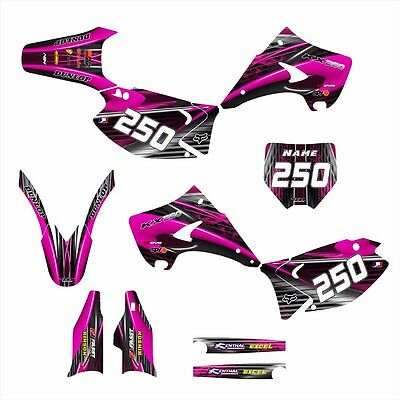 $149 • Buy Kx125 Kx250 Graphics For 2003 2004 2005 2006 2007 2008 - 2014 #3333 Hot Pink