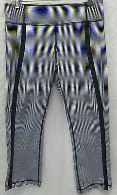 $ CDN80.27 • Buy Lululemon Navy And White Checkered Cropped Pants Size 12 EUC
