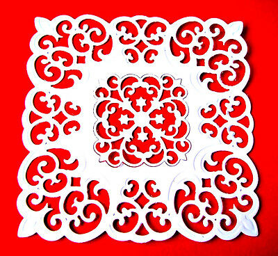 £4.75 • Buy 4 Square Victorian Medallion Three Die Cuts, Frame Spellbinders. Any Colour/Card