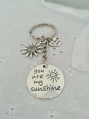 £3.80 • Buy You Are My Sunshine Keyring With Organza Gift Bag