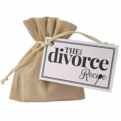 The Little Divorce Recipe - Unique Thoughtful Fun Party Gift Positive New Start • 6.95£