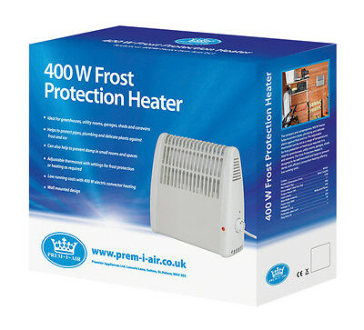 Prem-I-Air 400W Home Caravan Garage Shed Frost Ice Damp Protection Heater • 16.99£