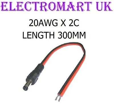 £1.99 • Buy Dc Power Plug Male 12v Volt Cctv Camera Connector Cable Lead