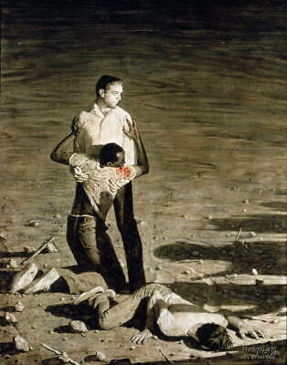 $ CDN24.65 • Buy Norman Rockwell Murder In Mississippi Poster Reproduction Giclee Canvas Print