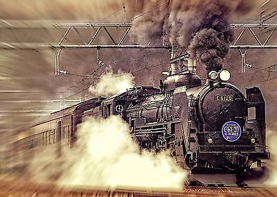 £27.99 • Buy STUNNING STEAM TRAIN CANVAS PICTURE WALL ART Various Sizes 1514