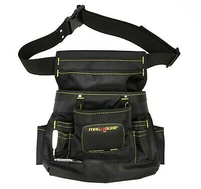 $25.65 • Buy MagnoGrip 002-412 10-Pocket Magnetic Tool Pouch With Belt, Black