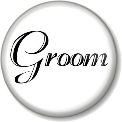 Groom 1  Pin Button Badge Wedding Day Favour Stag Party Do Best Man Gift Black • 0.99£