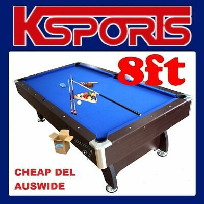AU740 • Buy Pub Size Pool Table 8ft Snooker Billiard Table With Free Accessories Kit - Black