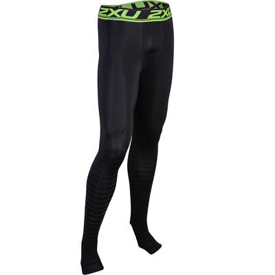 2XU Mens Power Recovery Compression Tights (Black/Black) | BUY NOW! • 107.27£