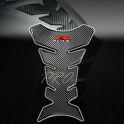 $19.78 • Buy 3D Gel Fuel/Gas Tank Pad Protector Decal/Sticker Chrome Carbon Look Suzuki GSX-R