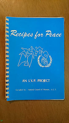 AU14.95 • Buy RECIPES FOR PEACE An I.Y.P. Project (national Council Of Women A.c.t.)