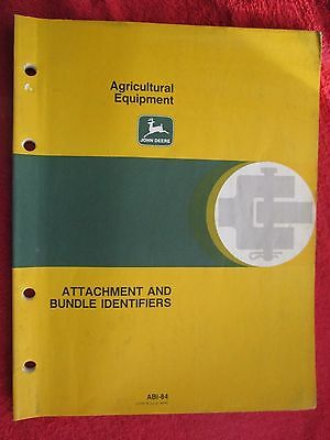 £10.91 • Buy 1984 John Deere Agricultural Equipment Attachments And Bundle Identifiers Manual