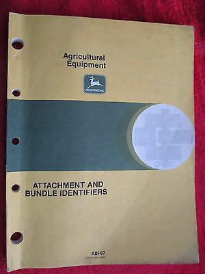 £10.91 • Buy 1987 John Deere Agricultural Equipment Attachments And Bundle Identifiers Manual