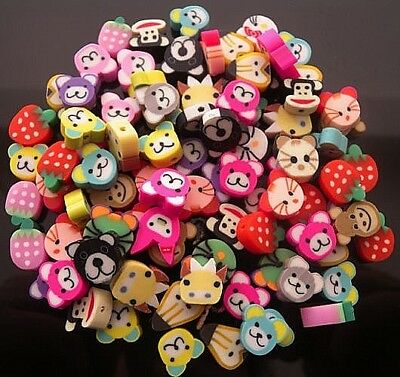 £3.99 • Buy 30 Mixed Fimo Polymer Clay  Animal Beads Hole Is Top To Bottom - Free & Fast P&p