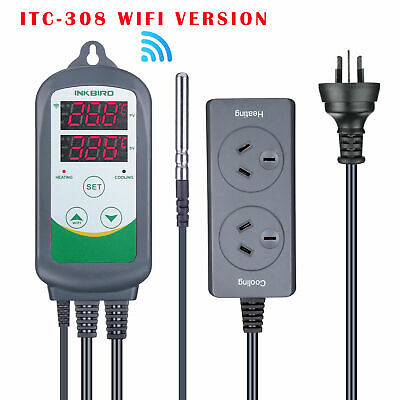 AU59.49 • Buy ITC-308 Wifi Digital Temperature Controller Cooling Home Brewing For Heating Mat