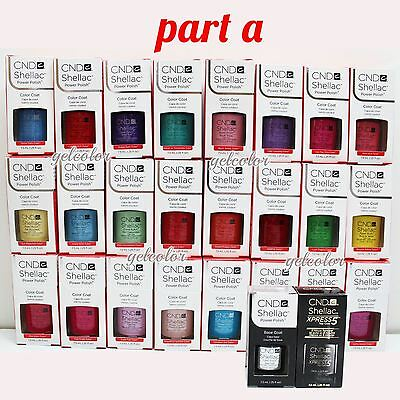 AU18.19 • Buy CND Shellac UV LED Gel Nail Polish Base Top Coat 7.3ml 0.25oz Pick ANY * PART A
