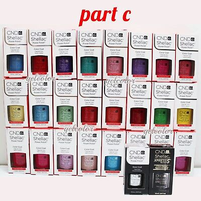 AU9.75 • Buy CND Shellac UV LED Gel Nail Polish Base Top Coat 7.3ml 0.25oz Pick ANY * PART C