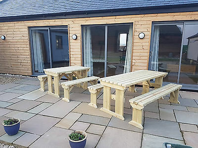 £310 • Buy Picnic Table And Bench Set Wooden Outdoor Garden Furniture, Aspen Heavy Duty