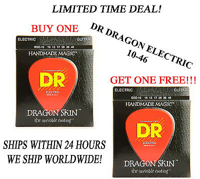 $ CDN17.71 • Buy **dr Dragon Skin Light Electric Guitar Strings (10-46) -- Coated Strings**
