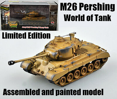 $17.99 • Buy WWII US M26 Pershing Tank Of World Limited Edition 1:72 No Diecast Easy Model