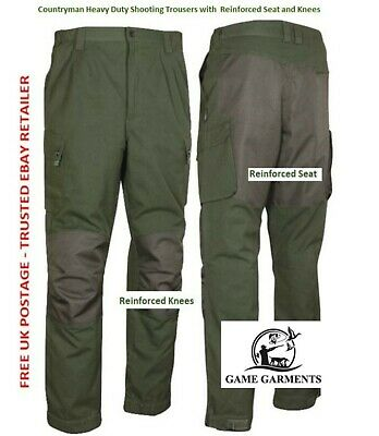 Countryman Shooting Trousers, Heavy Duty Cotton Reinforced Seat & Knees SALE! • 47.50£