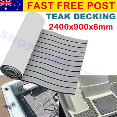 AU72.90 • Buy 240x90cm Marine Flooring Faux Teak EVA Foam Boat Yacht Decking Sheet Grey