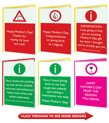 Funny Mother's Mothers Day Card Mum Mummy Amusing Cheeky Novelty Comedy Mam Joke • 2.75£