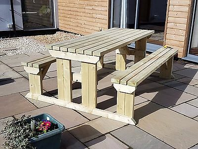 £310 • Buy Picnic Table And Bench Set Wooden Outdoor Garden Furniture, Abies Heavy Duty