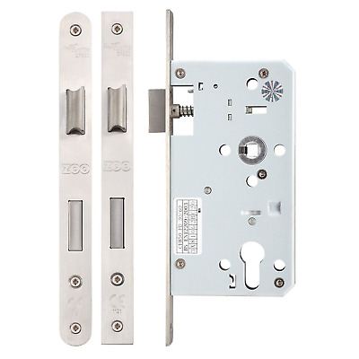 Zoo Mortice DIN Euro Profile Sash Lock Case Body 60mm Backset Stainless Steel • 14.95£