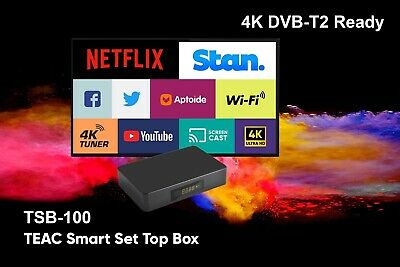 AU98 • Buy TEAC 4K Android Set Top Box Media Centre USB Recording Wifi Stan Netflix Youtube