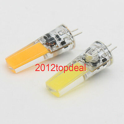 AU2.41 • Buy G4 5W COB 2508 AC/DC 12-24V Led Dimmable Bulb White/Warm Silicone Light Lamp