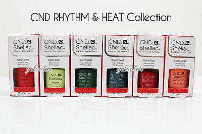 AU17.53 • Buy CND Shellac UV LED Gel Nail Polish RHYTHM & HEAT Collection 7.3ml .25oz Pick ANY